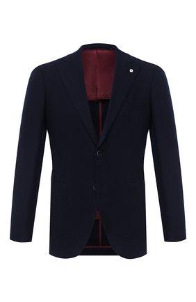 Мужской кашемировый пиджак L.B.M. 1911 темно-синего цвета, арт. 2411/02100 | Фото 1