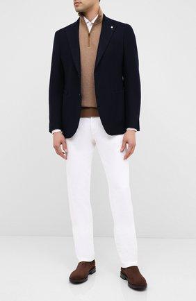 Мужской кашемировый пиджак L.B.M. 1911 темно-синего цвета, арт. 2411/02100 | Фото 2