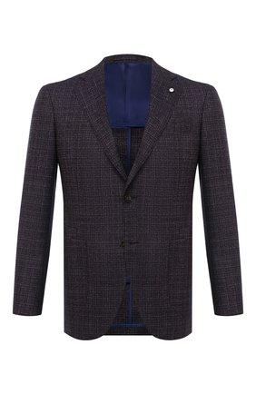 Мужской шерстяной пиджак L.B.M. 1911 темно-коричневого цвета, арт. 2411/02066 | Фото 1