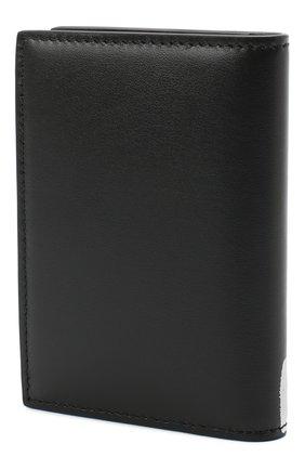 Мужской кожаный футляр для кредитных карт ALEXANDER MCQUEEN черно-белого цвета, арт. 625523/1NT0B | Фото 2