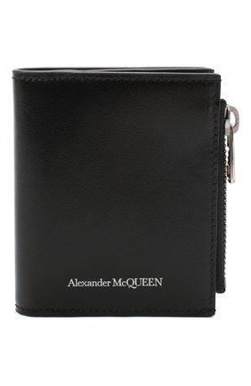 Мужской кожаное портмоне ALEXANDER MCQUEEN черного цвета, арт. 625522/1XI0Y | Фото 1