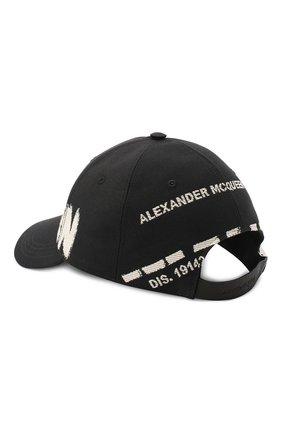 Мужской текстильная бейсболка ALEXANDER MCQUEEN черно-белого цвета, арт. 624392/4C60Q | Фото 2 (Материал: Хлопок, Текстиль)