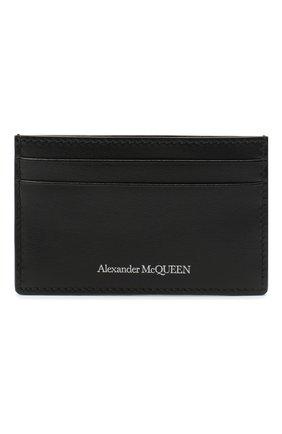 Мужской кожаный футляр для кредитных карт ALEXANDER MCQUEEN черного цвета, арт. 602144/1XI0Y | Фото 1