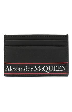 Мужской кожаный футляр для кредитных карт ALEXANDER MCQUEEN черного цвета, арт. 602144/1SJ8B | Фото 1