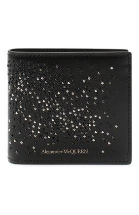 Мужской кожаное портмоне ALEXANDER MCQUEEN черного цвета, арт. 602139/1XI1Y | Фото 1