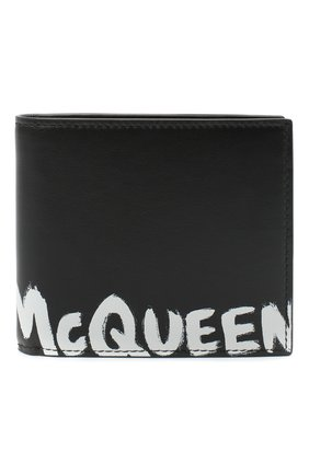 Мужской кожаное портмоне ALEXANDER MCQUEEN черно-белого цвета, арт. 602139/1NT6B | Фото 1