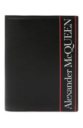 Мужской кожаная обложка для паспорта ALEXANDER MCQUEEN черного цвета, арт. 601692/1SJ7B | Фото 1