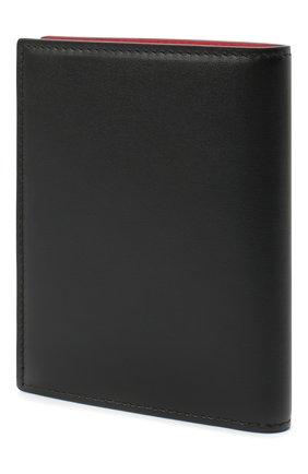 Мужской кожаная обложка для паспорта ALEXANDER MCQUEEN черного цвета, арт. 601692/1SJ7B | Фото 2