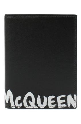 Мужской кожаная обложка для паспорта ALEXANDER MCQUEEN черного цвета, арт. 601692/1NT6B | Фото 1