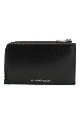 Мужской кожаный кошелек для монет ALEXANDER MCQUEEN черного цвета, арт. 600390/1XI0Y | Фото 1