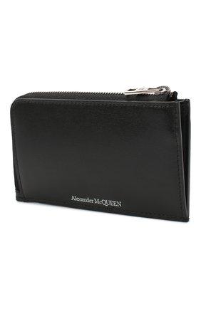 Мужской кожаный кошелек для монет ALEXANDER MCQUEEN черного цвета, арт. 600390/1XI0Y | Фото 2