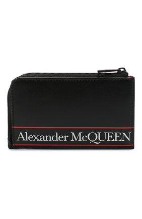 Мужской кожаный кошелек для монет ALEXANDER MCQUEEN черного цвета, арт. 600390/1SJ8B | Фото 1