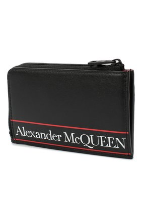 Мужской кожаный кошелек для монет ALEXANDER MCQUEEN черного цвета, арт. 600390/1SJ8B | Фото 2