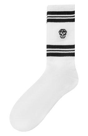Мужские хлопковые носки ALEXANDER MCQUEEN черного цвета, арт. 573458/4C05Q | Фото 1