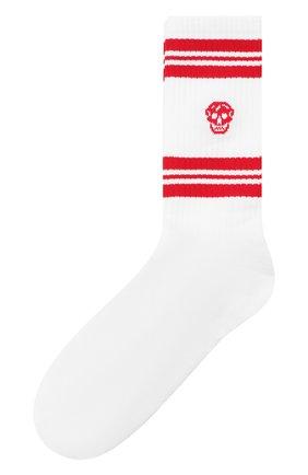 Мужские хлопковые носки ALEXANDER MCQUEEN красного цвета, арт. 573458/4C05Q | Фото 1