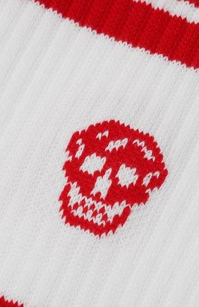 Мужские хлопковые носки ALEXANDER MCQUEEN красного цвета, арт. 573458/4C05Q | Фото 2