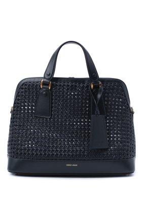 Женская сумка GIORGIO ARMANI темно-синего цвета, арт. Y1A178/YTE5D | Фото 1