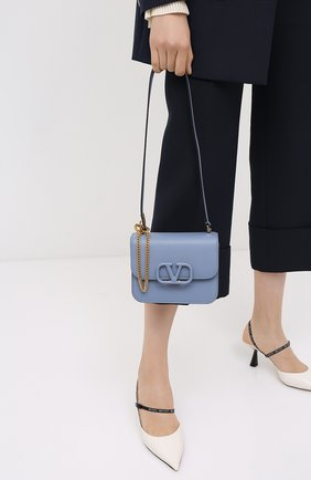 Женская сумка valentino garavani vsling VALENTINO голубого цвета, арт. UW2B0F01/RQR   Фото 2