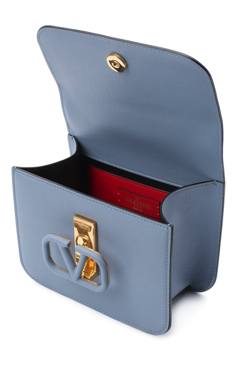 Женская сумка valentino garavani vsling VALENTINO голубого цвета, арт. UW2B0F01/RQR   Фото 4