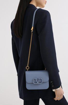 Женская сумка valentino garavani vsling VALENTINO голубого цвета, арт. UW2B0F01/RQR   Фото 5