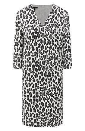 Женское платье из хлопка и вискозы ESCADA черно-белого цвета, арт. 5034368 | Фото 1