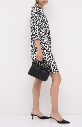 Женское платье из хлопка и вискозы ESCADA черно-белого цвета, арт. 5034368 | Фото 2
