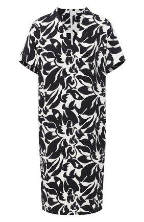 Женское платье из вискозы ESCADA черно-белого цвета, арт. 5033912 | Фото 1