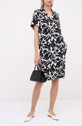 Женское платье из вискозы ESCADA черно-белого цвета, арт. 5033912 | Фото 2