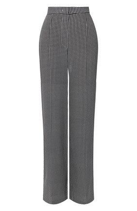 Женские шелковые брюки ESCADA черно-белого цвета, арт. 5033667 | Фото 1