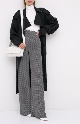 Женские шелковые брюки ESCADA черно-белого цвета, арт. 5033667 | Фото 2