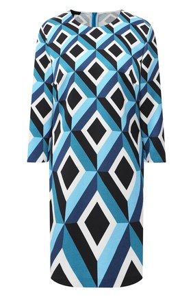 Женское платье из хлопка и вискозы ESCADA голубого цвета, арт. 5033535 | Фото 1