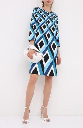 Женское платье из хлопка и вискозы ESCADA голубого цвета, арт. 5033535 | Фото 2
