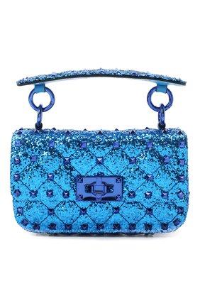Женская сумка valentino garavani rockstud spike VALENTINO синего цвета, арт. UW2B0G37/LVR | Фото 1