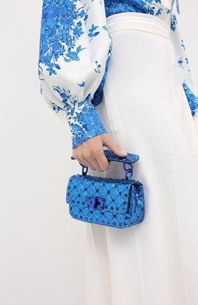 Женская сумка valentino garavani rockstud spike VALENTINO синего цвета, арт. UW2B0G37/LVR | Фото 2