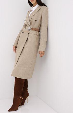 Женские замшевые сапоги TOM FORD коричневого цвета, арт. W2529T-LCL071 | Фото 2