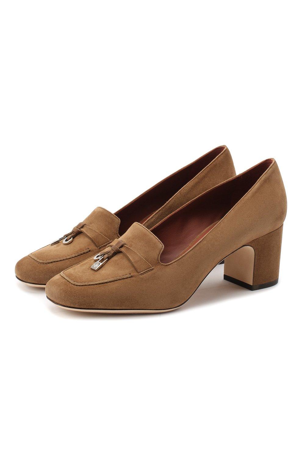 Женские замшевые туфли summer charms LORO PIANA коричневого цвета, арт. FAI7081 | Фото 1