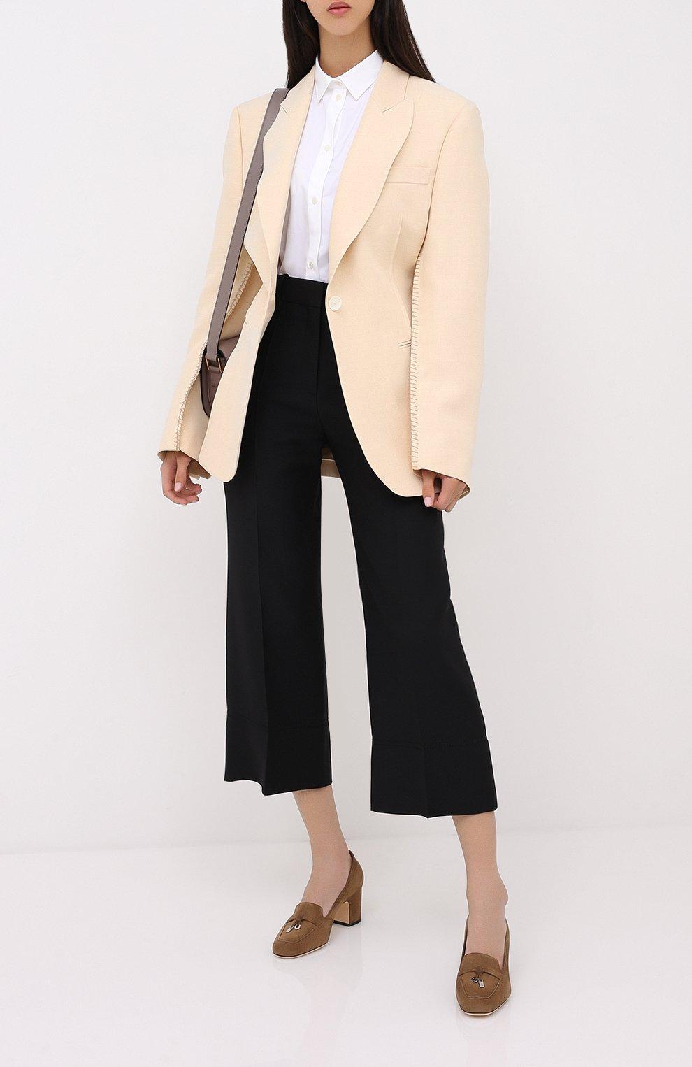 Женские замшевые туфли summer charms LORO PIANA коричневого цвета, арт. FAI7081 | Фото 2