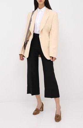 Женская замшевые туфли summer charms LORO PIANA коричневого цвета, арт. FAI7081 | Фото 2