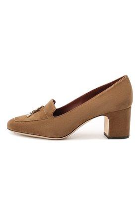 Женские замшевые туфли summer charms LORO PIANA коричневого цвета, арт. FAI7081 | Фото 3