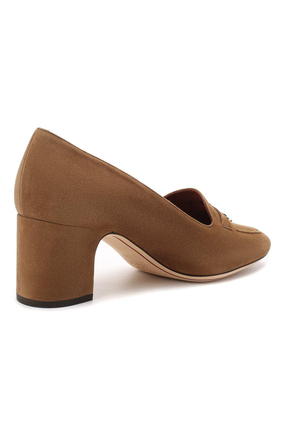 Женские замшевые туфли summer charms LORO PIANA коричневого цвета, арт. FAI7081 | Фото 4