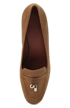 Женские замшевые туфли summer charms LORO PIANA коричневого цвета, арт. FAI7081 | Фото 5