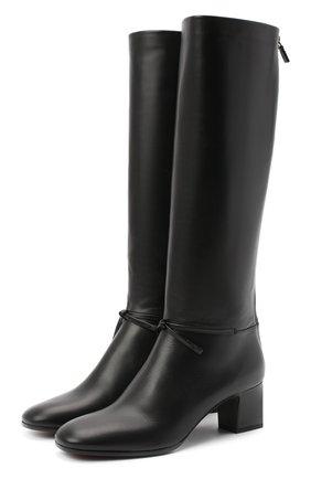 Женские кожаные сапоги mariel LORO PIANA черного цвета, арт. FAL2951 | Фото 1