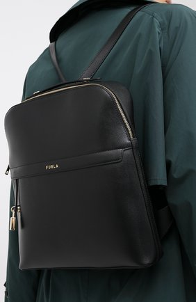 Женский рюкзак piper FURLA черного цвета, арт. BAHZFPI/ARE000 | Фото 2