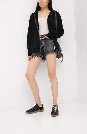 Женские джинсовые шорты MOUSSY черного цвета, арт. 025DSC11-2340 | Фото 2