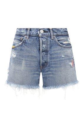 Женские джинсовые шорты MOUSSY голубого цвета, арт. 025DSC11-2310 | Фото 1
