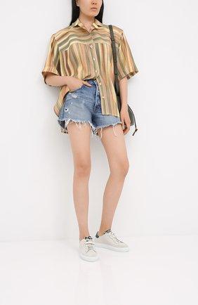 Женские джинсовые шорты MOUSSY голубого цвета, арт. 025DSC11-2310 | Фото 2