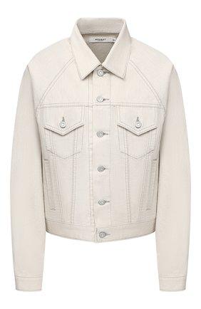 Женская джинсовая куртка MOUSSY белого цвета, арт. 025DSC11-1170 | Фото 1
