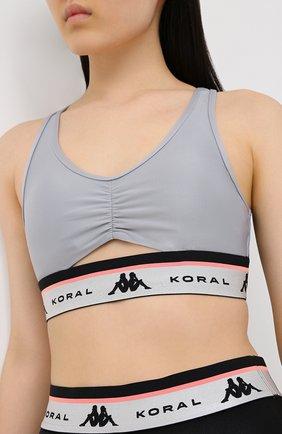 Женский топ koral x kappa KORAL X KAPPA серого цвета, арт. KP416Q05   Фото 3
