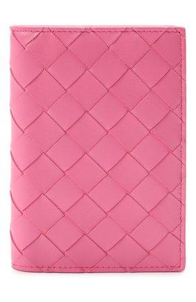 Женского кожаная обложка для паспорта BOTTEGA VENETA розового цвета, арт. 608061/VCPP2 | Фото 1