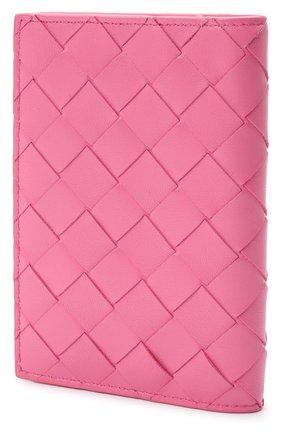 Женского кожаная обложка для паспорта BOTTEGA VENETA розового цвета, арт. 608061/VCPP2 | Фото 2